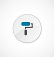 paint roller icon 2 colored vector image