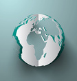 Paper Cut Globe - Earth vector image