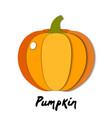 paper cut orange pumpkin cut shapes 3d abstract vector image vector image