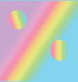 rainbow stripes gradient percent sign pastel vector image vector image