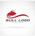 red bull design on white background wild animals vector image