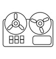 reel tape recorder icon outline style vector image vector image