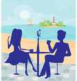 romantic date on a tropical beach vector image vector image