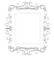 Romantic frame vector image vector image