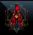 rooster esport mascot logo design vector image vector image