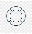 rubber ring concept linear icon isolated on vector image