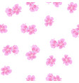 sakura pattern on white background vector image vector image