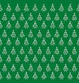 seamless green pattern of christmas trees vector image