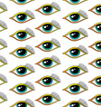 seamless one eye pattern vector image vector image