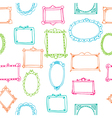 Seamless pattern with colorful frames vector image vector image