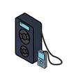 sound speaker icon vector image