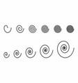 spirals set vector image vector image
