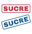 Sucre Rubber Stamps vector image vector image