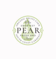 the sweetest pear farm badge or logo template vector image vector image