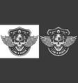vintage monochrome police logo template vector image vector image