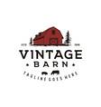 vintage retro rustic barn logo design vector image