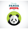 Weekly Panda Cute Flat Animal Icon - Surprised vector image