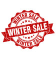 winter sale stamp sign seal vector image vector image