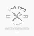 logo for cafe or restaurant with knife vector image