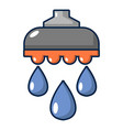 shower head icon cartoon style vector image