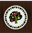 A Tree - Drink Coaster from Wonderland Forest vector image vector image