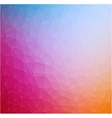 Abstract 2D triangle geometric colorful background vector image vector image