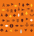 Arrow sign silhouettes collection retro style vector image vector image