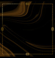 black and gold marble texture with ornamental vector image