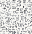 Business Doodle Seamless vector image vector image