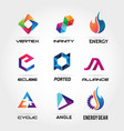 business logo design collection vector image vector image