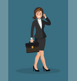business woman talking on the phone vector image vector image