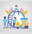 businessmen clock time vector image vector image