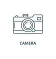 camera line icon camera outline sign vector image vector image