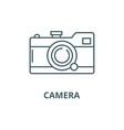 camera line icon camera outline sign vector image