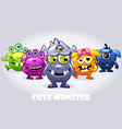 cartoon collection five cute babies vector image vector image