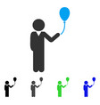 Child with balloon flat icon vector image
