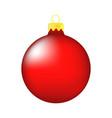 christmas bauble icon symbol design winter vector image