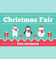 christmas fair banner flat style vector image vector image