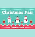 christmas fair banner flat style vector image
