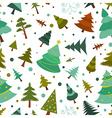 Christmas tree seamless pattern Flat design Colour vector image vector image