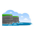 cliffs of moher irish attraction travel to vector image vector image