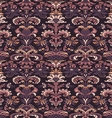 colorful damask seamless floral pattern background vector image vector image