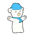 comic cartoon cute polar bear vector image vector image