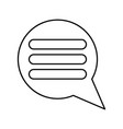 comments black color icon vector image
