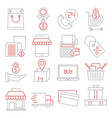 commerce icons set vector image