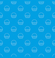 cupcake pattern seamless blue vector image vector image