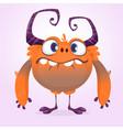 cute cartoon monster vector image vector image