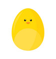 cute chicken face easter egg vector image vector image