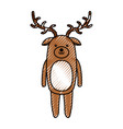 cute scribble deer cartoon vector image vector image