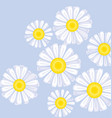 daisy flower design element vector image